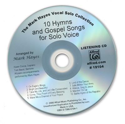 10 Hymns & Gospel Songs for Solo Voices (Listening CD)  -     By: Mark Hayes