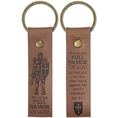 Full Armor of God Leather Keyring  -
