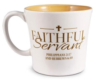 Faithful Servant Mug, White  -