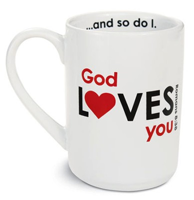 God Loves You Mug, White  -