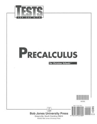 BJU Math 12: Pre-Calculus, Tests    -