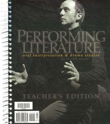 BJU Performing Literature: Oral Interpretation & Drama  Teacher's Edition  -     By: Bob Jones