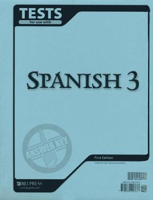 BJU Spanish 3, Tests Answer Key   -