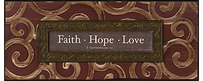 Faith, Hope, Love Plaque, I Corinthians 13  -