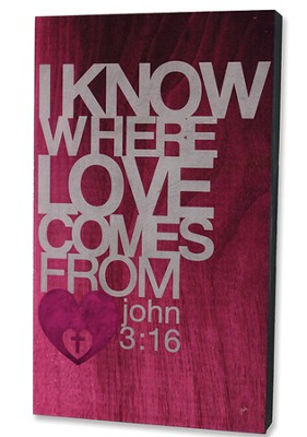 I Know Where Love Comes From Wood Box Print  -
