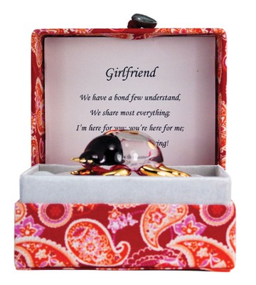 Girlfriend Glass Bug in Silk Box  -