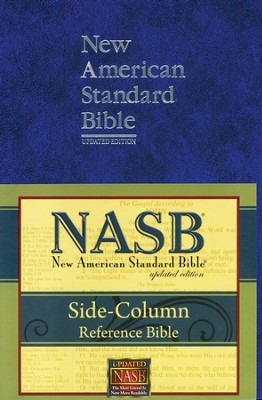 NASB Update Side-Column Reference, Large Print, Blue     -