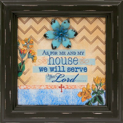 As For Me and My House Framed Art  -