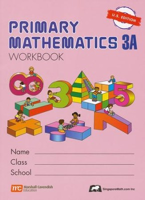 Singapore Math: Primary Math Workbook 3A US Edition   -