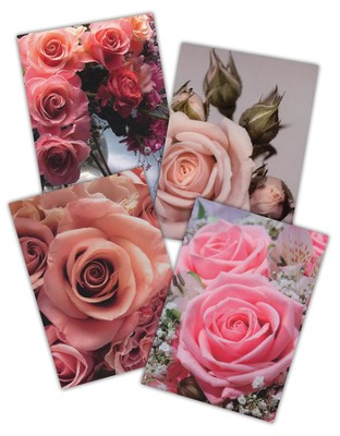 Spring Roses Greeting Cards, Box of 12  -
