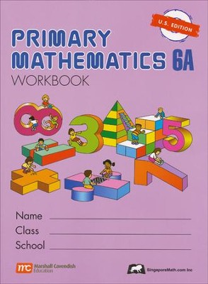 Singapore Math: Primary Math Workbook 6A US Edition   -