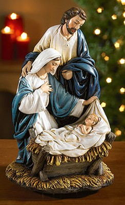 Nativity, Let Us Adore Him Musical Figurine  -