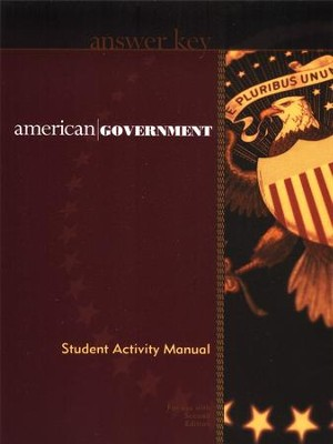 BJU American Government Grade 12, Activity Manual Teacher's Edition  -