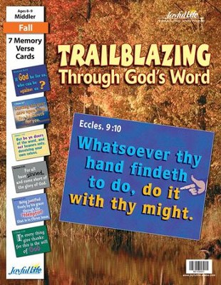 Trailblazing through God's Word Middler (Grades 3-4) Memory Verse Visuals  -