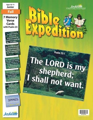 Bible Expedition Junior (Grades 5-6) Memory Verse Visuals  -