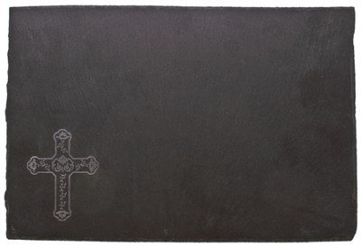 Slate Cheeseboard with Cross                          -
