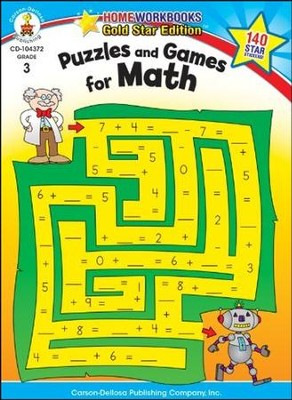 Puzzles and Games for Math Grade 3  -