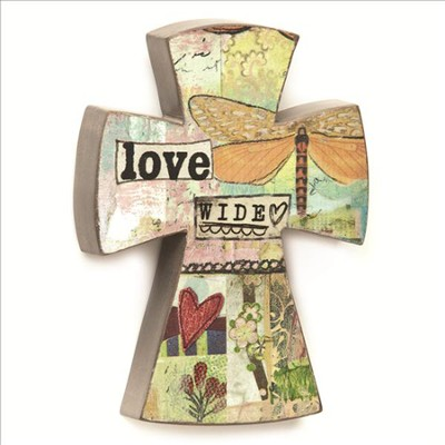 Love Wide Wall Cross  -     By: Kelly Rae Roberts
