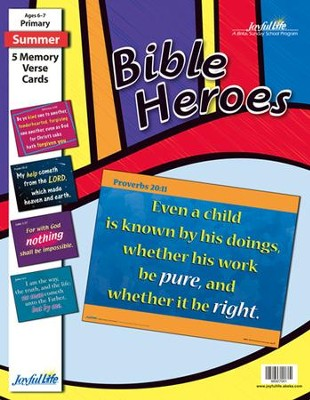 Bible Heroes Primary (Grades 1-2) Memory Verse Visuals   -