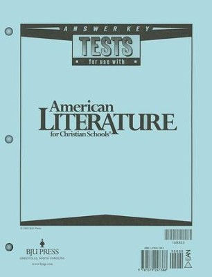 BJU American Literature Grade 11, Tests Answer Key   (Revised Edition)  -