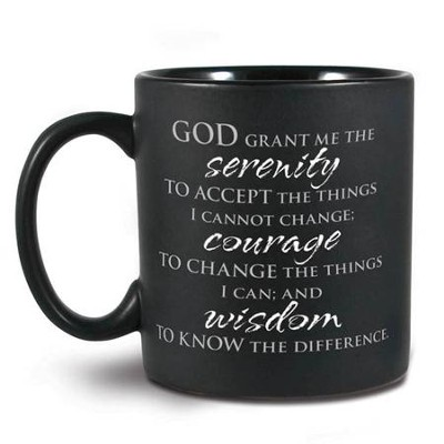 Serenity Prayer Ceramic Mug  -