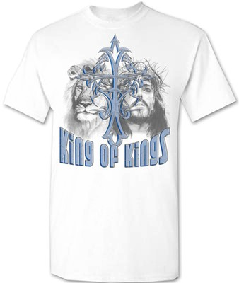 King Of Kings Shirt, White, Large  -