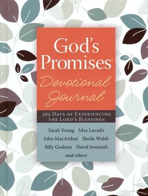 God's Promises: 365 Days of Experiencing the Lord's Blessings--Devotional Journal (slightly imperfect)  -