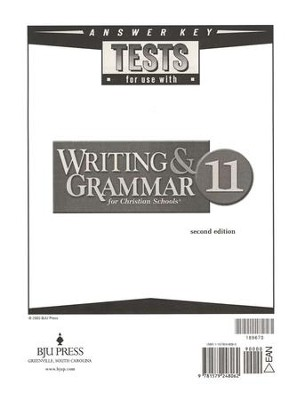 BJU Writing & Grammar Answer Key, Grade 11   -