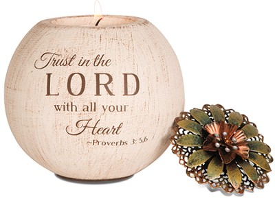 Trust In the Lord Candle Holder  -