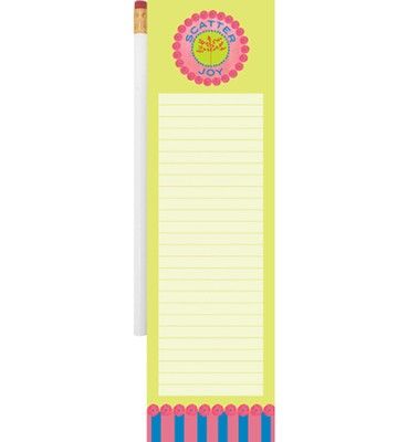 Scatter Joy Magnetic Note Pad and Pencil  -