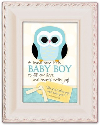 Baby Boy, Magnetic Framed  -