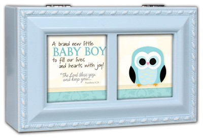 A Brand New Baby Boy Music Box, Blue  -