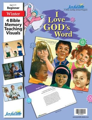 I Love God's Word Beginner (ages 4 & 5) Bible Memory Verse Visuals  -