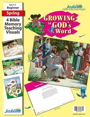 Growing in God's Word Beginner (ages 4 & 5) Bible Memory Verse Visuals  -