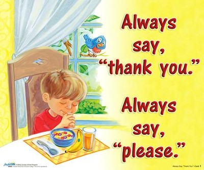 Always Say Thank You Visual Song Cards (2s/3s- Beginner)  -