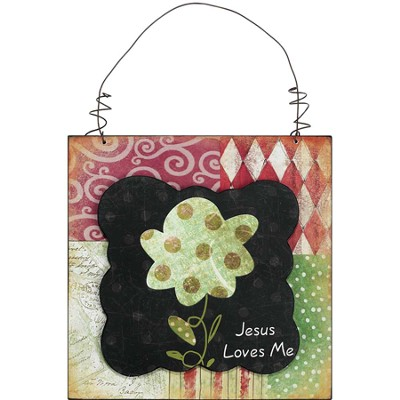 Jesus Loves Me Plaque  -