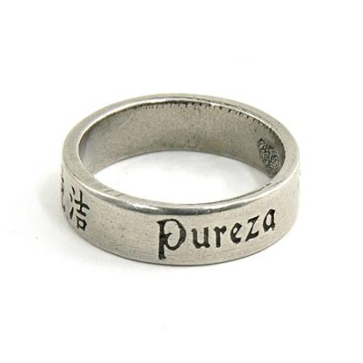 Pewter Language of Love Ring, Size 5  -