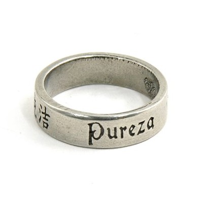 Pewter Language of Love Ring, Size 6  -