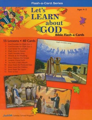 Learning God's Way (ages 2 & 3) Bible Memory Verse Visuals  -