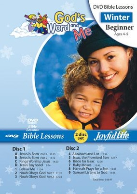 God's Word and Me Beginner (ages 4 & 5) Bible Lesson DVD  -