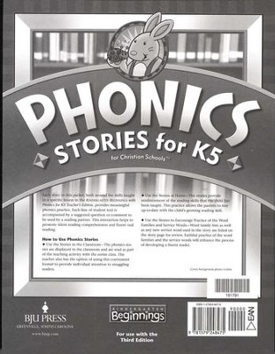BJU K5 Beginnings, Phonics Stories (Third Edition)    -
