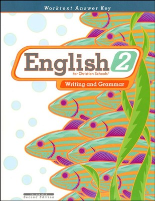 BJU English 2: Writing and Grammar, Worktext Answer Key (Second Edition)  -