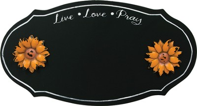 Live, Love, Pray Magnetic Chalkboard  -