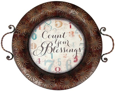 Count Your Blessings, Metal Tray  -