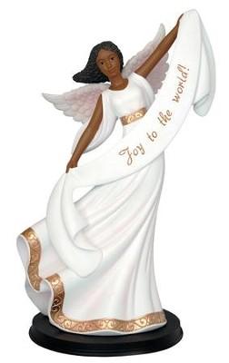 African American Christmas angel figurine