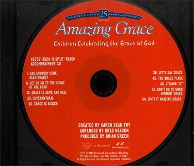Amazing Grace (25th Anniversary Edition) Split Track Accompaniment CD  -