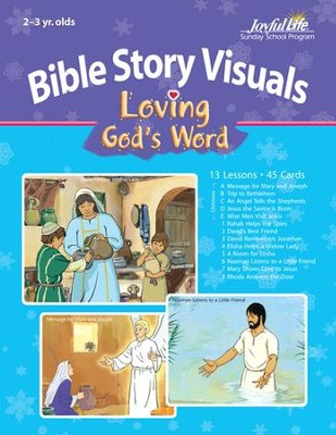 Extra Loving God's Word (ages 2 & 3) Bible Story Lesson Guide  -