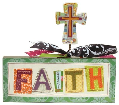 Faith Word Block  -     By: Lori Siebert