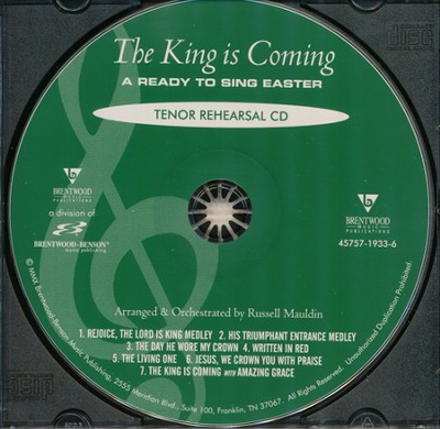 The King Is Coming (Tenor Rehearsal Track CD)   -