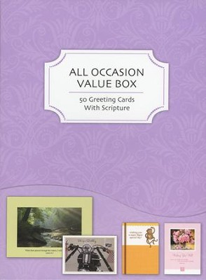 All Occasion Cards, Assorted, Value Box of 50   -